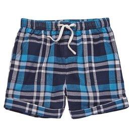 Mud Pie Blue Plaid Shorts