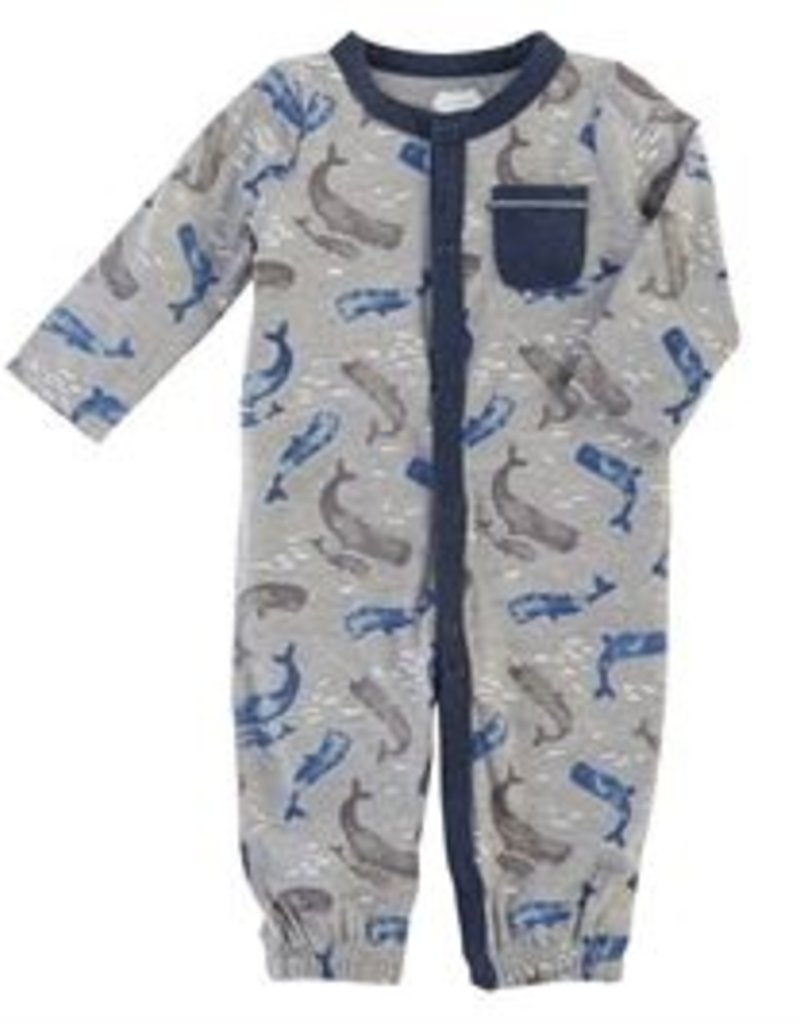Mud Pie Whale Convertible Gown (0-3 Month)