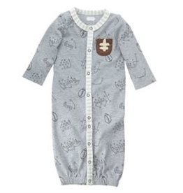 Mud Pie Football Convertible Gown (0-3 Month)