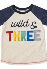 Mud Pie Wild and Three Shirt 3T