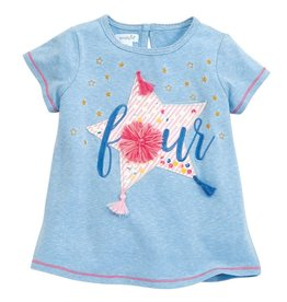 Mud Pie Four Birthday Tee (4T)