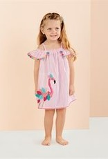 Mud Pie Flamingo Stripe Dress