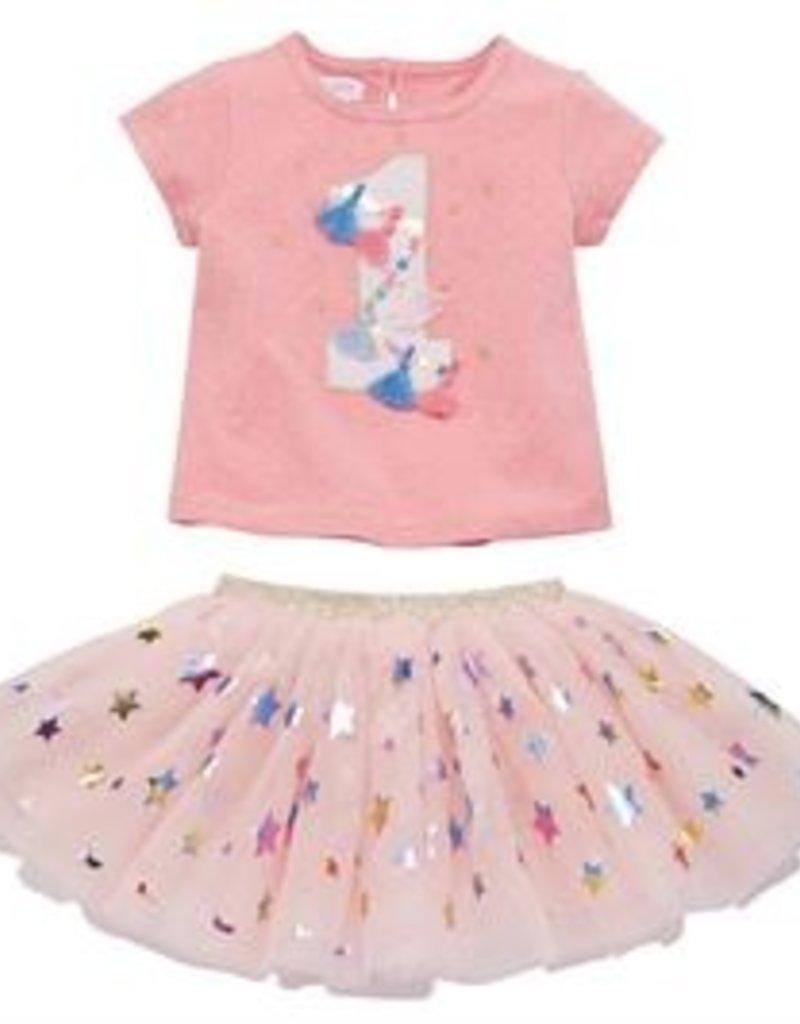 Mud Pie One Birthday Skirt Set (12-18 Month)