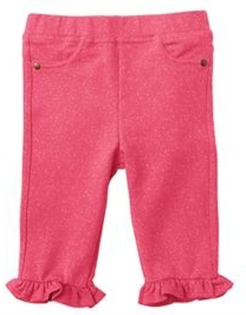 Mud Pie Pink French Terry Capri