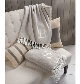 Mud Pie Initial Throw Blanket