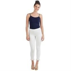 Jenner Fringe Jeans White