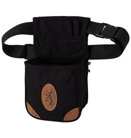 Browning Browning Lona Canvas & Leather Shell Pouch, Black