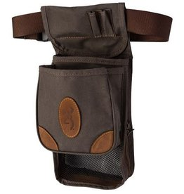 Browning Browning Lona Canvas & Leather Deluxe Shell Pouch - Flint