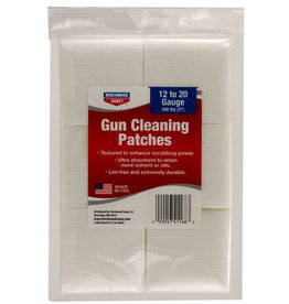BIRCHWOOD CASEY BWC Cleaning Patches 12 ga - 20 ga