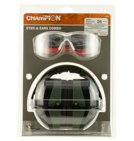 CHAMPION Champion Eyes & Ears Combo Passive Hearing Protection, NRR 26