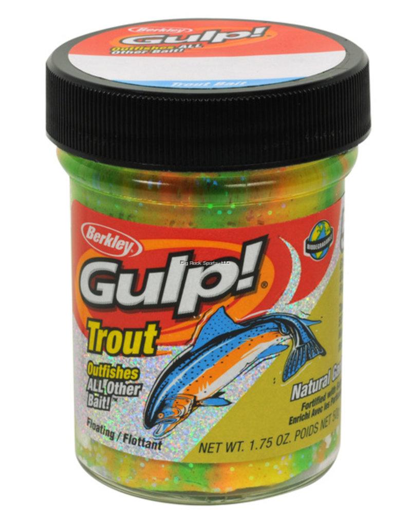 Berkley Berkley Gulp Trout Dough Natural Garlic Scent/Rainbow Candy