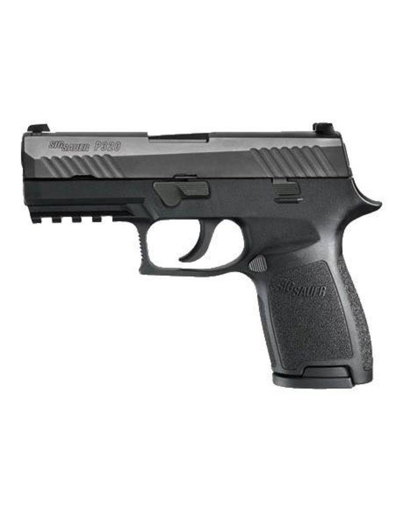 "Sig Sauer Sig Sauer 320CA9B P320 Carry Double 9mm Luger 3.9"" 17+1 Black Polymer Grip/Frame Grip Black Nitron Stainless Steel"
