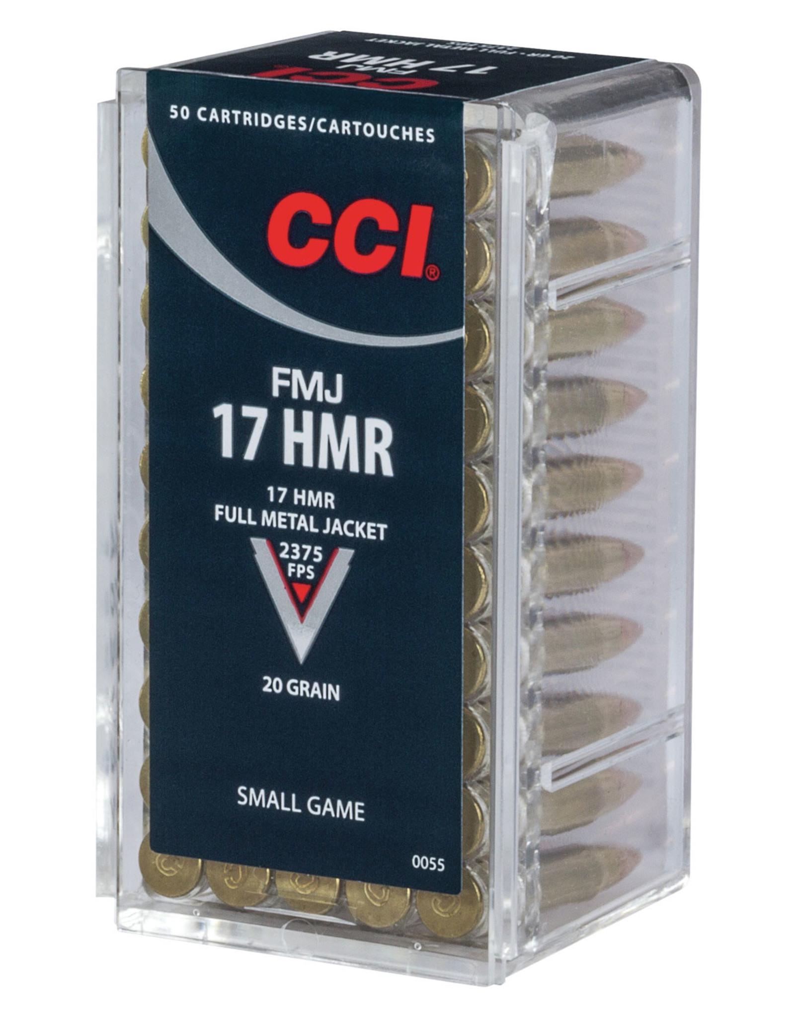 CCI CCI Small Game 17 HMR 20 Gr FMJ - 50 Count Box