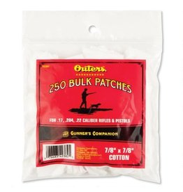 OUTERS Outers 250 Count Patches for .17, .204, .22 Cal Rifle and Pistol