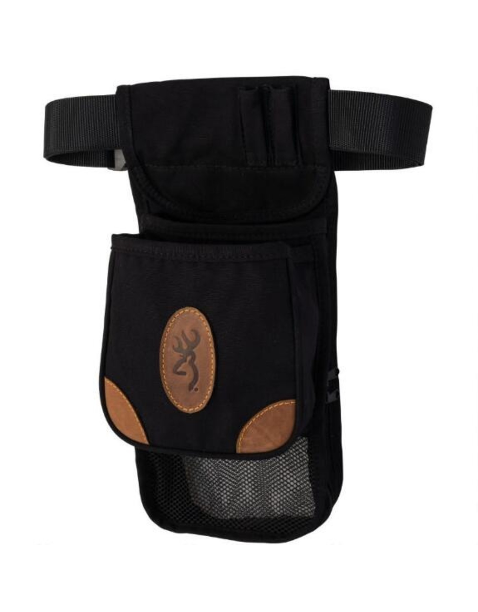 Browning Lona Canvas Leather Deluxe Shell Pouch - Black