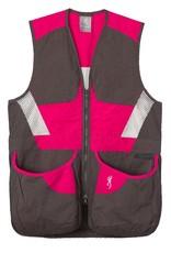 Browning Summit Vest Smoke/Hot Pink - LG