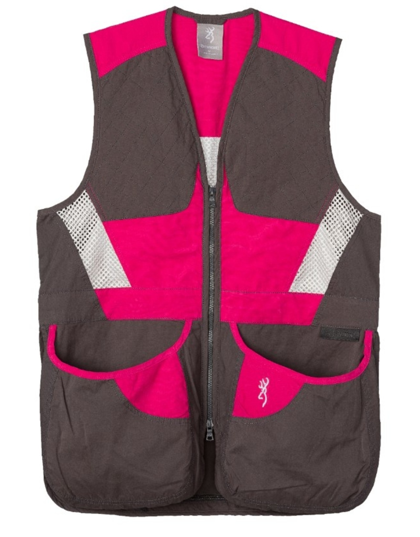 Browning Summit Vest Smoke/Hot Pink - MED