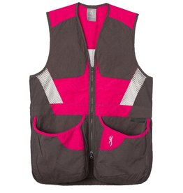 Browning Summit Vest Smoke/Hot Pink - MED