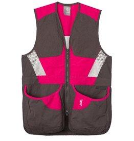 Browning Summit Vest Smoke/Hot Pink - SM