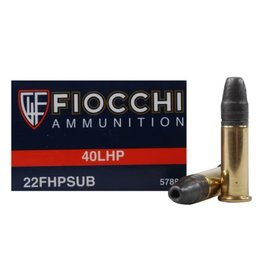 Fiocchi Fiocchi .22 LR 40 gr HP Subsonic