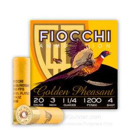 """Fiocchi Fiocchi Golden Pheasant 20 ga 3"""" 1 1/4 Oz #4"""