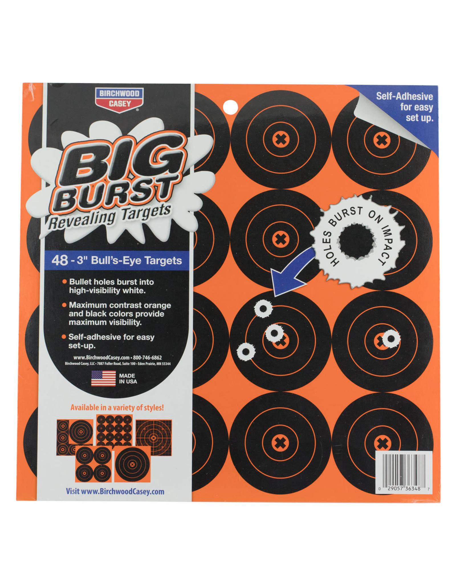 "BIRCHWOOD CASEY BWC Big Burst Revealing Targets - 48, 3"" Bull's Eye Targets"