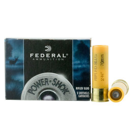 Federal Federal Power-Shok Rifled Slugs 20 GA, 2-3/4 in, 3/4 oz, 1600 FPS