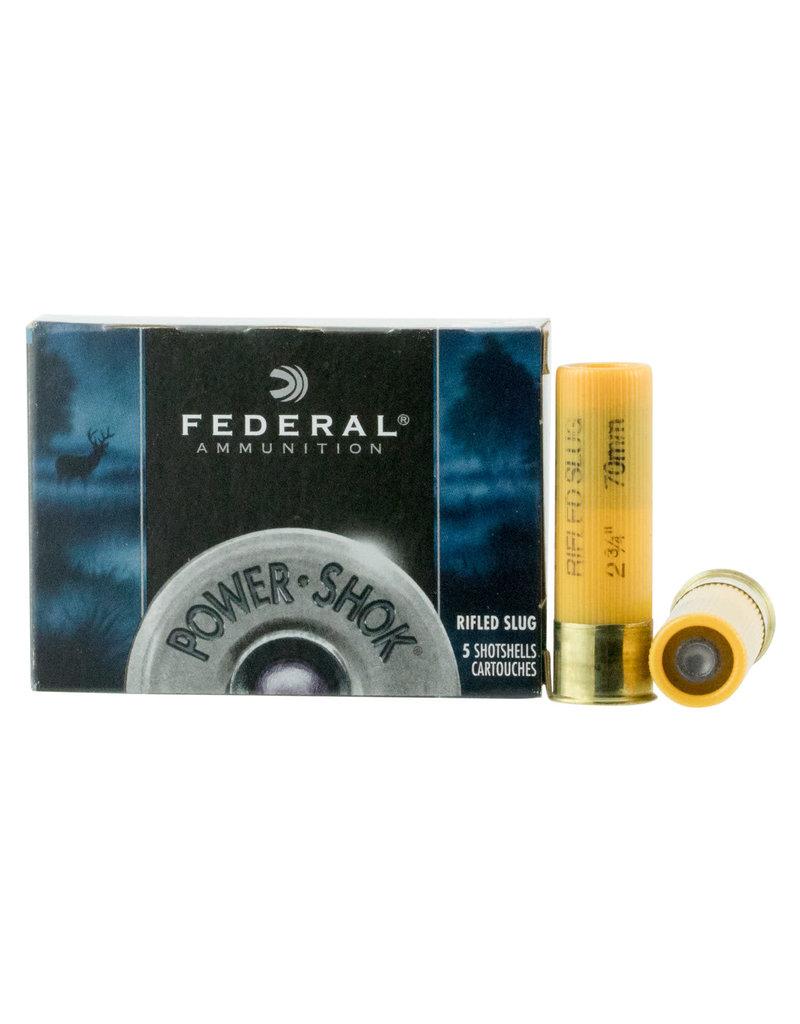 Federal Federal Power-Shok Rifled Slugs 20 GA, 2-3/4 in, 3/4 oz, 1600 FPS