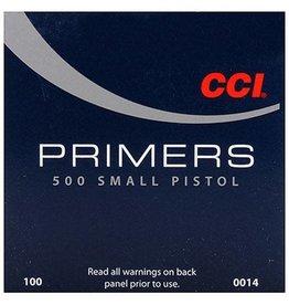 CCI CCI  500 Std Small Pistol Primer, 100 Ct