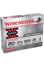 "WINCHESTER AMMO Winchester 20 Ga 2-3/4"" 20 Pellets #3 Buck 1200 FPS - 5 Count"