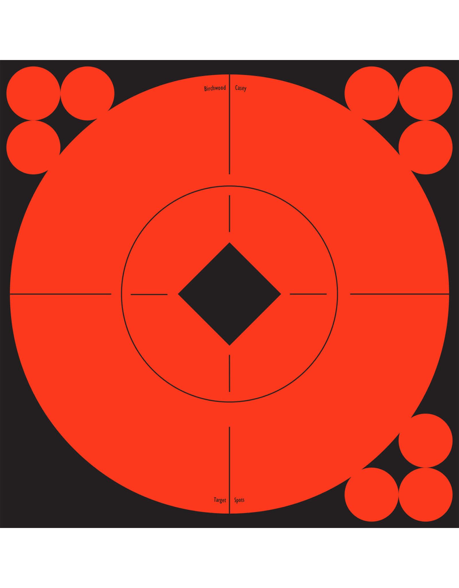 "BIRCHWOOD CASEY BWC Bullseye Orange Self Adhesive Targets - 6"" 10 Count"
