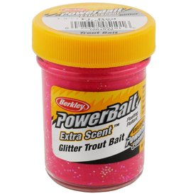 Berkley Berkley PowerBait Glitter Trout Bait Fluorescent Red 1.75oz