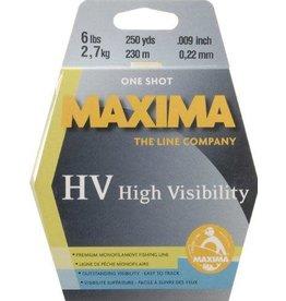 Maxima Maxima MOY-6 1-Shot Spool Monofilament Line 6Lb 250Yds Hi-Vis