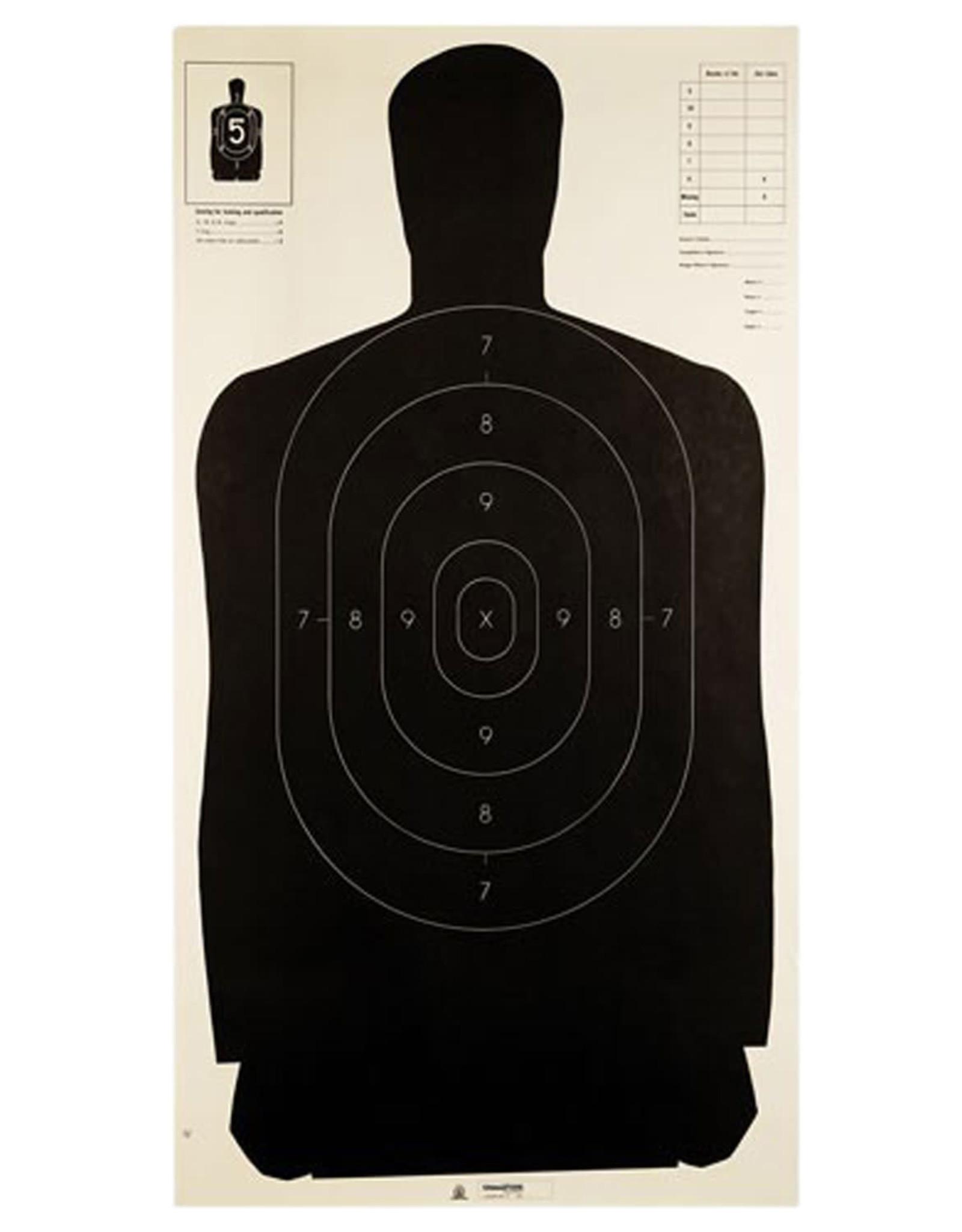 Champion Police Silhouette Target - Black