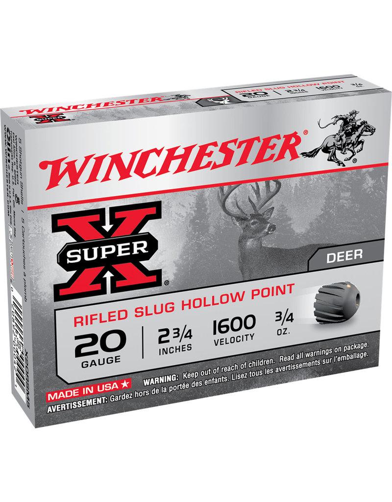 """WINCHESTER Winchester Super-X Rifled Slugs 20 Ga  2-3/4""""  3/4 oz"""