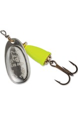 Blue Fox Classic Vibrax Spinner, 3/16 oz Blue Fox Classic Chartreuse and Silver