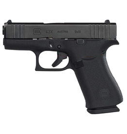 Glock G43X 9mm 10+1 w/ Black Slide