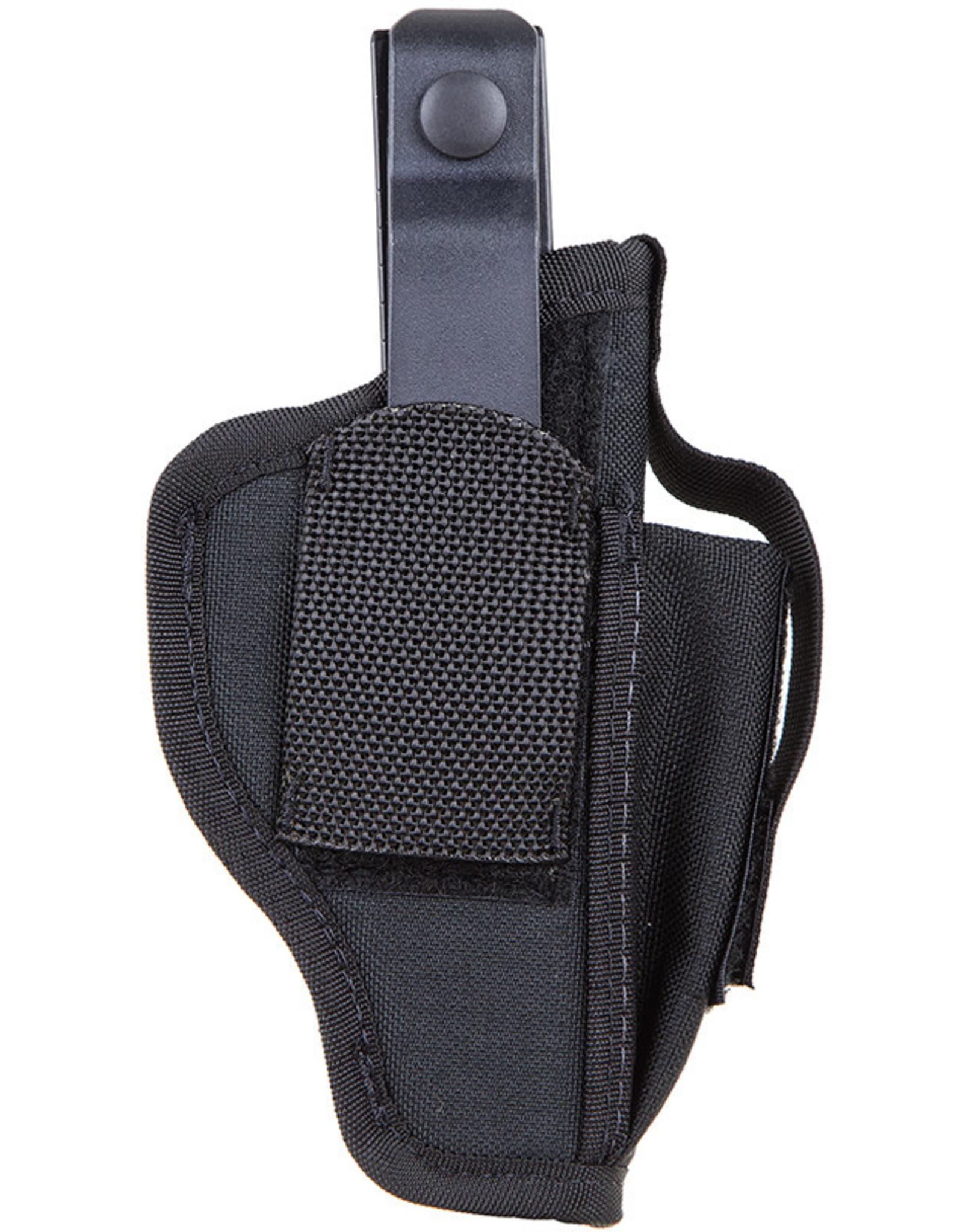 BLACK HAWK PRODUCTS Blackhawk Holster w/ Mag Pouch for Sm Frame 5 & 6 Rd Revolver w/Spur Nylon Black