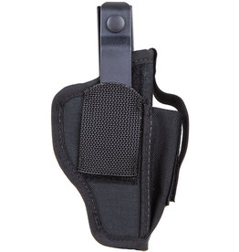 BLACK HAWK PRODUCTS Blackhawk Holster w/ Mag Pouch for Sm Frame 5 & 6 Rd Revolver w/Spur Nylon Black