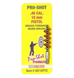 PRO-SHOT Pro-Shot Brass Tornado Brush - .40 Cal / 10mm