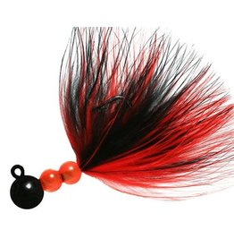 Beau SMJ Marabou Jig 1/8 oz Black & Red
