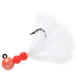 Hawken Beau Mac Marabou Jig, 1/8 oz, #1 Hook, Pearl Peach &