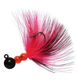 Hawken Beau Mac Marabou Jig, 1/8 oz, #1 Hook, Black/Pink &