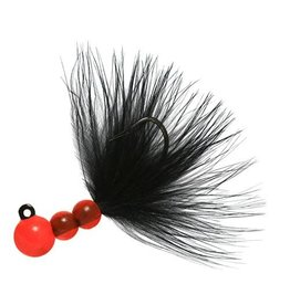 Hawken Beau Mac Marabou Jig, 1/8 oz, #1 Hook, Flame & Black