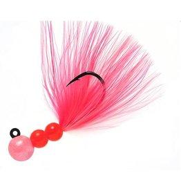Hawken Beau Mac Pro Marabou Jig, 1/8 oz, 1/0 Hook, Pink