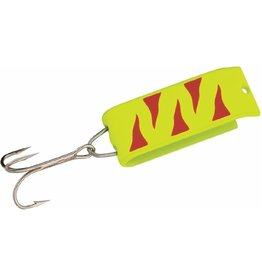 Jake's Jake's Spin-A-Lure 1/4 Oz. - Neon Yellow w/ Red Tiger Stripes