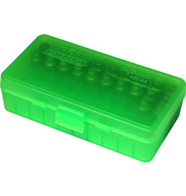 MTM MOLDED PRODUCTS MTM Flip Top Clear Green & Black - 50 Round
