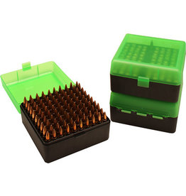 MTM MOLDED PRODUCTS MTM Flip Top - 100 Round Pistol - Clear Green & Black