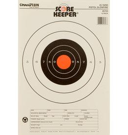 CHAMPION Champion Scorekeeper 25Yd Pistol Slow Fire Target, Orange