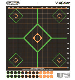 """CHAMPION TARGETS Champion Visicolor Sight-In Target 12x12"""" Peel and Stick"""